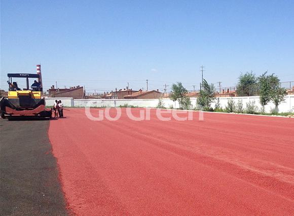 冷拌彩色沥青在蒙古的新项目