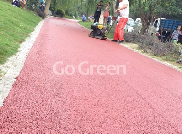 红色冷拌彩色沥青在昆山的新项目