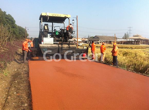 橙色热拌彩色沥青在浙江的项目