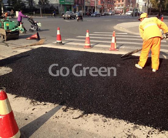 Go Green冷补料对道路及时修复的项目