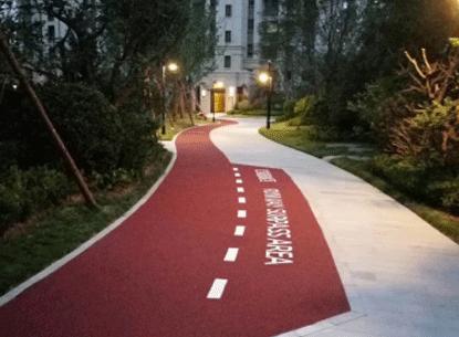 轻型交通彩色路面