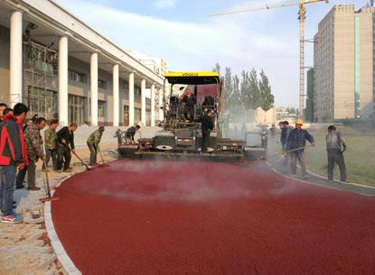 水泥路面如何做彩色路面