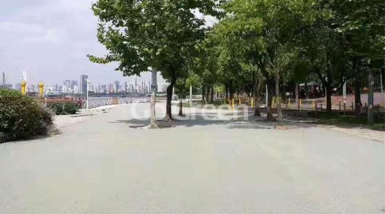 彩色透水沥青路面致力于海面城市