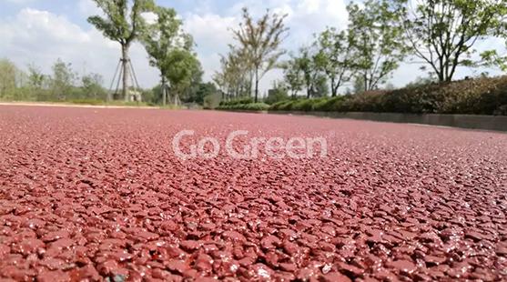 红色透水沥青项目完工
