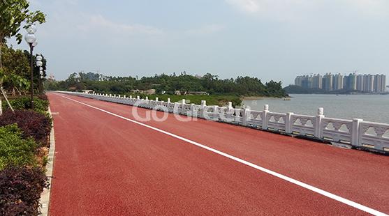 广西湖畔透水沥青项目